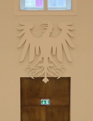 Zum Abschuss freigegeben: Kunstwerk von Peter Kulka im Brandenburger Landtag (Bild: Julian Nitzsche, CC-Lizenz)